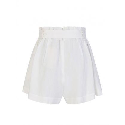 White Olivia Shorts