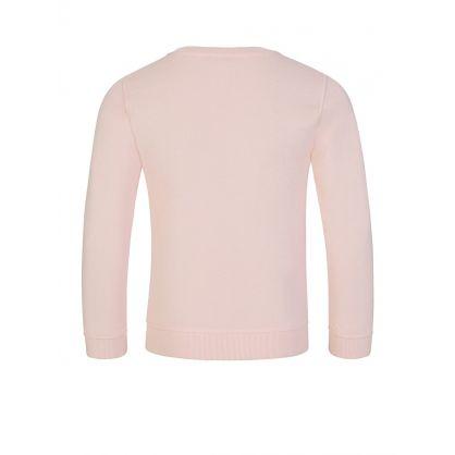 Pink Embroidered Tiger Sweatshirt