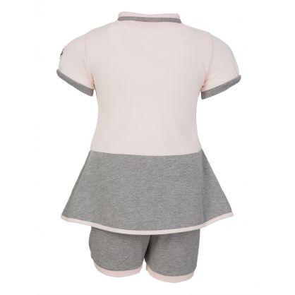 Pink Dress And Pants Set