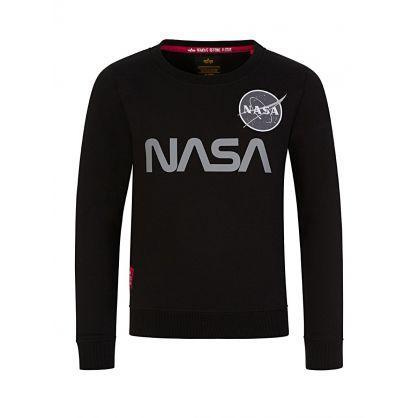Kids Black NASA Reflective Sweatshirt