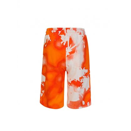 Kids Orange Cotton Fleece Shorts