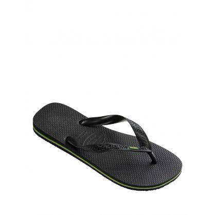 Signature Black Brazil Flip-Flops