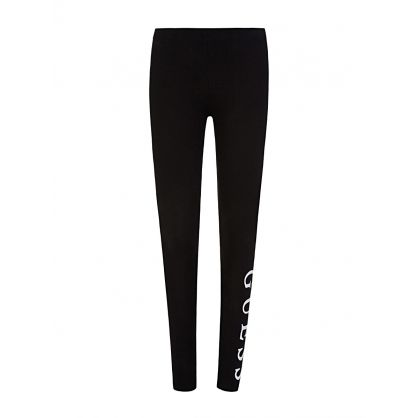Kids Black Core Logo Leggings