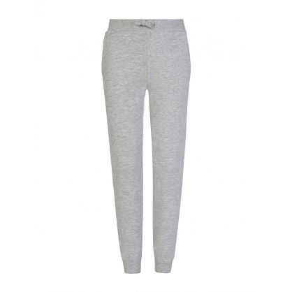 Kids Grey Pocket Logo Sweatpants