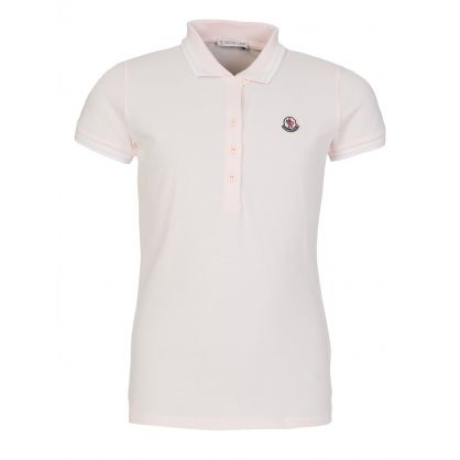 Pink Tipped Edge Detail Polo Shirt