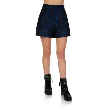 Black/Navy High-Waisted Shorts