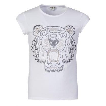 White Tiger Cap Sleeve T-Shirt