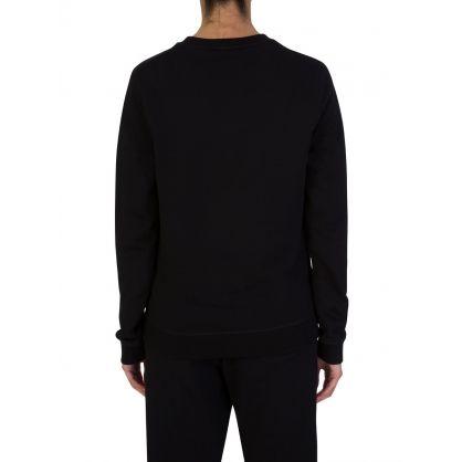 Black Beaded Tiger Sweatshirt