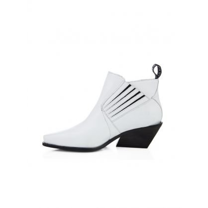 White Rider Ankle Boots