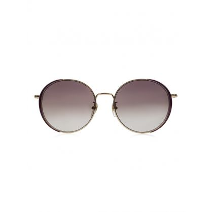 Gold Circular Metal Sunglasses