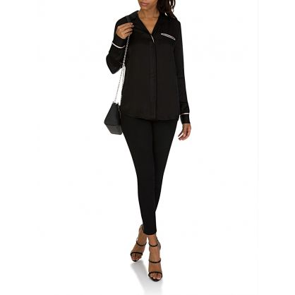 J. Brand Black/Moodlight Kaiya Long Sleeve Shirt