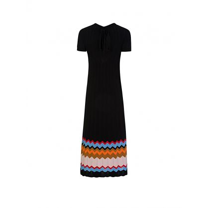 Black Knitted Midi Dress