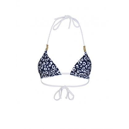 White Reversible Rope Bikini Triangle Top