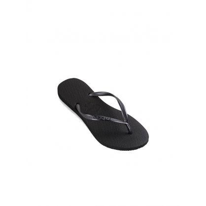 Black Slim Flip-Flops