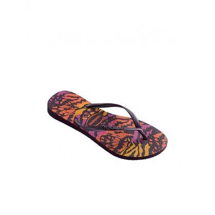 Aubergine Animal Flip-Flops