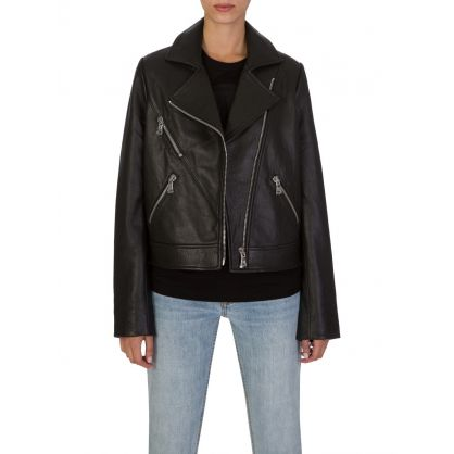 Black C'Est Leather Jacket