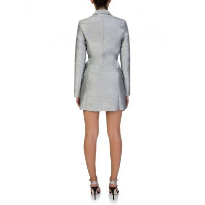 Silver Sparkle Blazer Dress