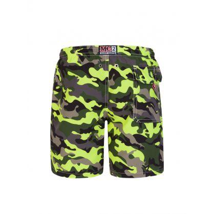 Junior Fluorescent Camo Swim Shorts