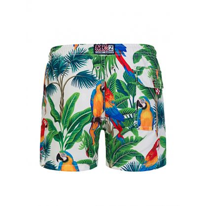 White Macaw Swim Shorts