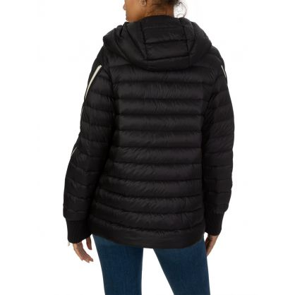 Black Hooded Stockholm Puffa Jacket