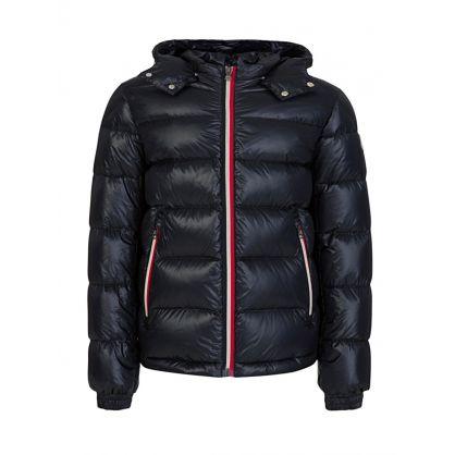 Navy 'Gastonet' Hooded Jacket