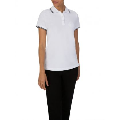 White Collar-Tipped Polo Shirt