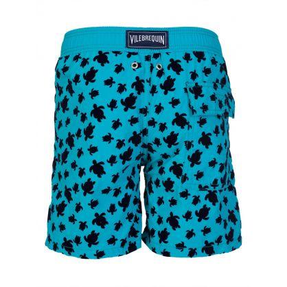 Junior Turquoise Turtle Swim Shorts
