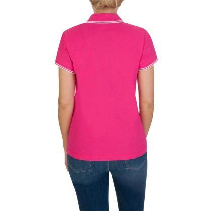 Pink Tipped Logo Polo Shirt