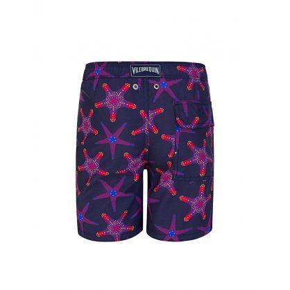 Junior Blue Starfish Dance Swim Shorts