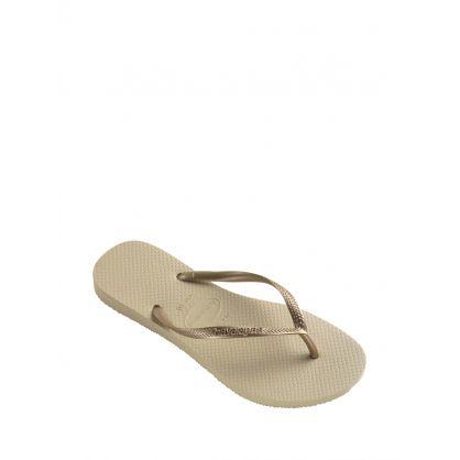 Gold Slim Flip-Flops