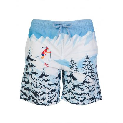 Junior Blue Ski Swim Shorts