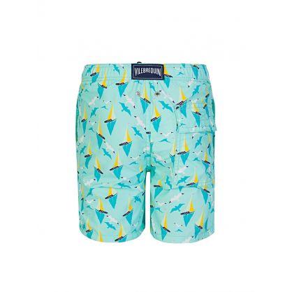 Junior Turquoise Lagoon Swim Shorts