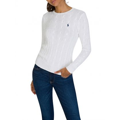 White Cable Wool Jumper