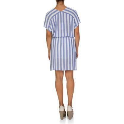 White Pacifica Stripe Kaftan Dress