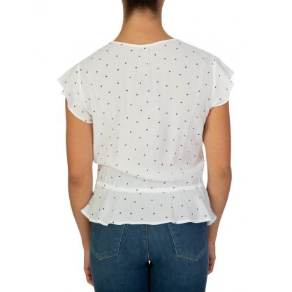 White Mini Heart Day Top