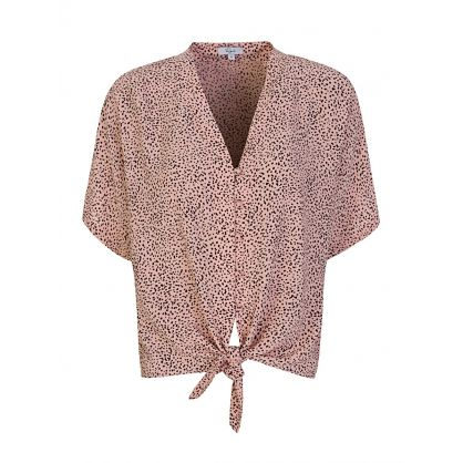 Pink Rose Spotted Thea Top