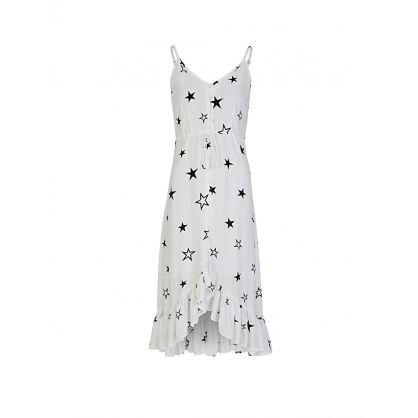 White Frida Stellar Midi-Length Dress
