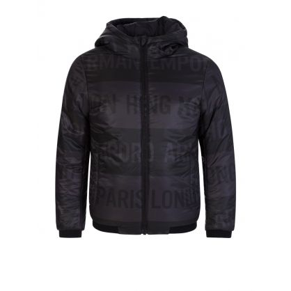 Black Reversible Hooded Jacket