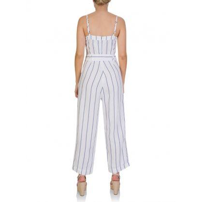 White Harper Prato Stripe Jumpsuit