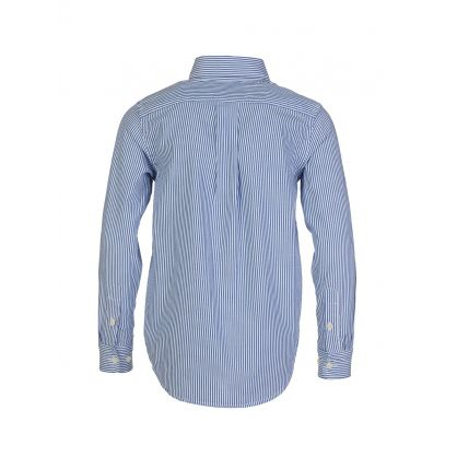 Kids Blue Cotton Oxford Shirt