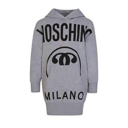 Kids Grey Milano Logo Hoodie