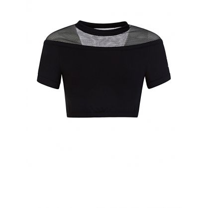 Black Sports Crop Top