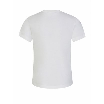 White Glitter Logo T-Shirt