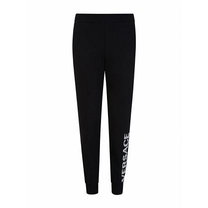 Black Glitter Logo Sweatpants