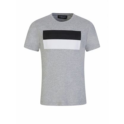 Grey Two-Tone Chest Logo T-Shirt