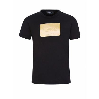 Black Logo Plate T-Shirt