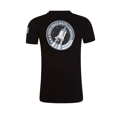 Kids Black Space Shuttle NASA T-Shirt