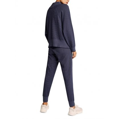 Navy Pique Knit Alice Sweatpants 2.0