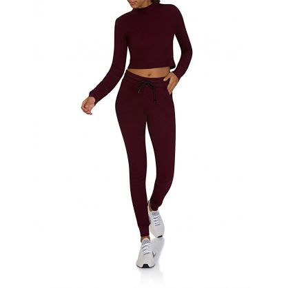 Burgundy Monaco Crop Top