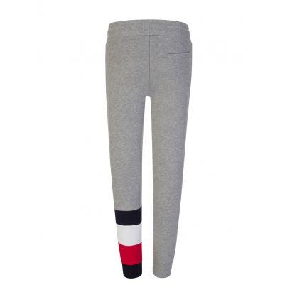 Kids Grey Global Stripe Colourblock Sweatpants